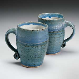 Two Blue Mugs