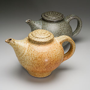 Oatmeal and Blue Teapots